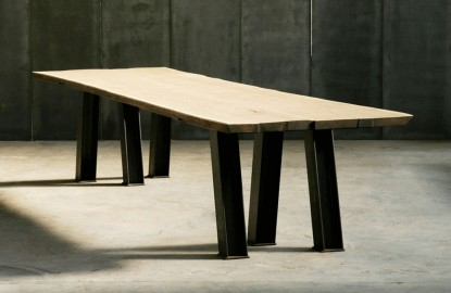 Eiffel Dining Table - Solid Oak - 320cm
