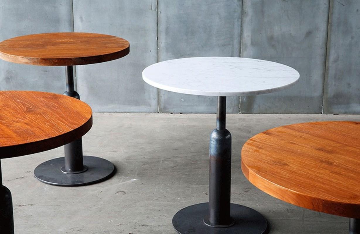 Gu ridon bistrot gu ridon cuisine table gu riudon style - Table de bistrot marbre ...