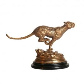 Bronze Leopard Figurine