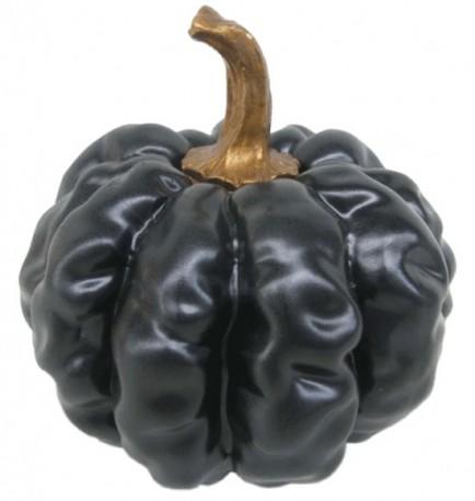 Citrouille décorative noire