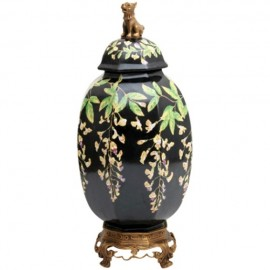 Porcelain Canister with Wisteria