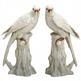 Figurines Perruches blanches