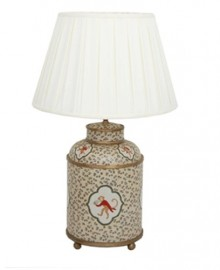 Large tea box porcelain table lamp