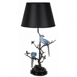 Large Table Lamp Blue Parrots