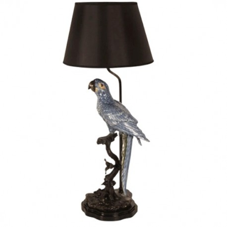 Pied de lampe Perroquet bleu