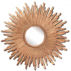 Miroir Soleil Or Antique