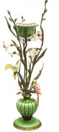 Bougeoir jolies perruches - Feuillage - H 62cm