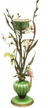 Bougeoir jolies perruches - Feuillage