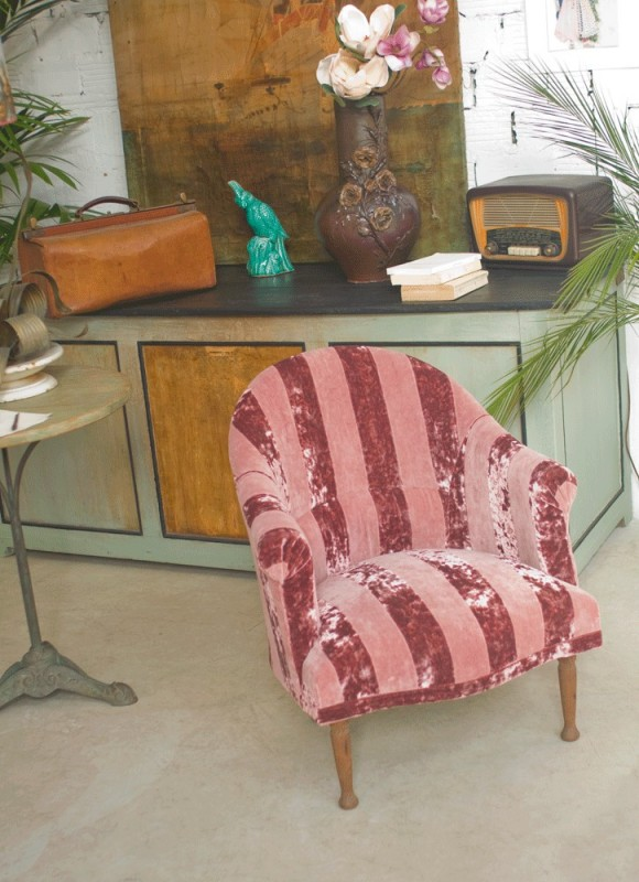 Tub chair 20s 30s vintage chair vintage tub chair restyled by arteslonga - Fauteuil crapaud vintage ...