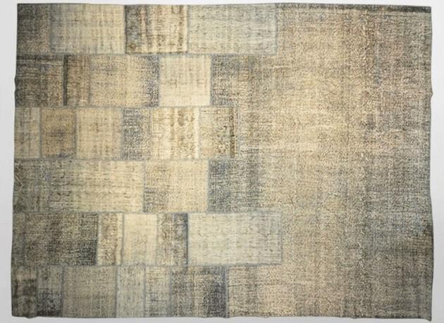 ... rug, grey green carpet, vintage grey green rug, vintage patchwork rug