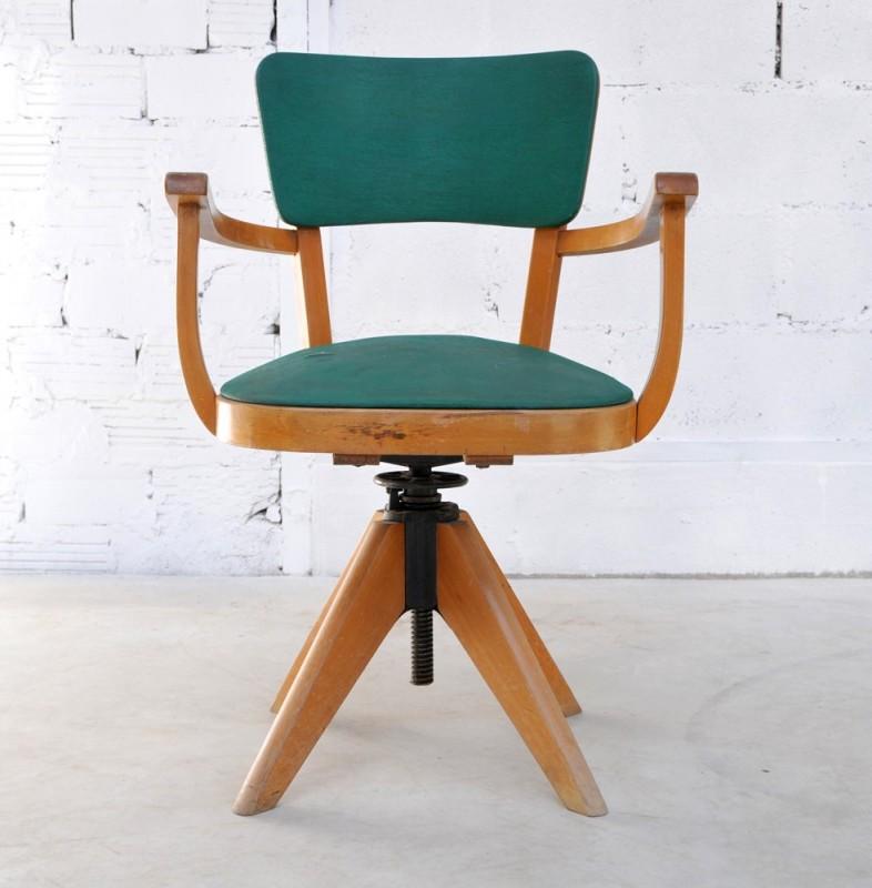 fauteuil de bureau en moleskine fauteuil ancien et vintage. Black Bedroom Furniture Sets. Home Design Ideas
