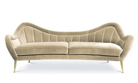 Ivory Velvet Sofa Rita, Bespoke