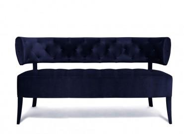 Sofa Blue Night Velvet Audrey Mase to Measure