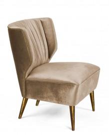Ivory Velvet Armchair Gilda