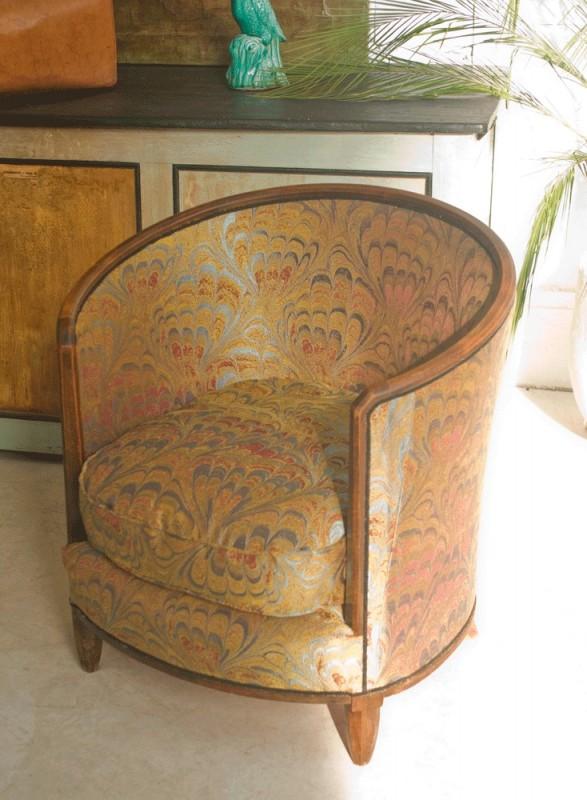 fauteuil tonneau ancien. Black Bedroom Furniture Sets. Home Design Ideas