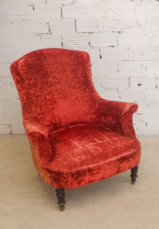 Fauteuil vintage fauteuil ancien fauteuil napol on iii fauteuil velours rouge - Fauteuil velours rouge ...