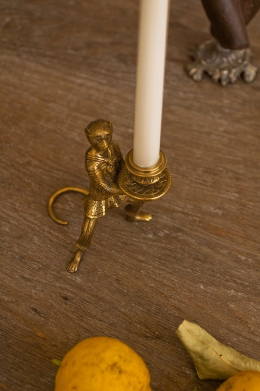 Funny Candle Holder Made In Brass Little Monkey Trained Monkey Performoing Monkey