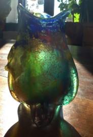 Vase en pâte de verre