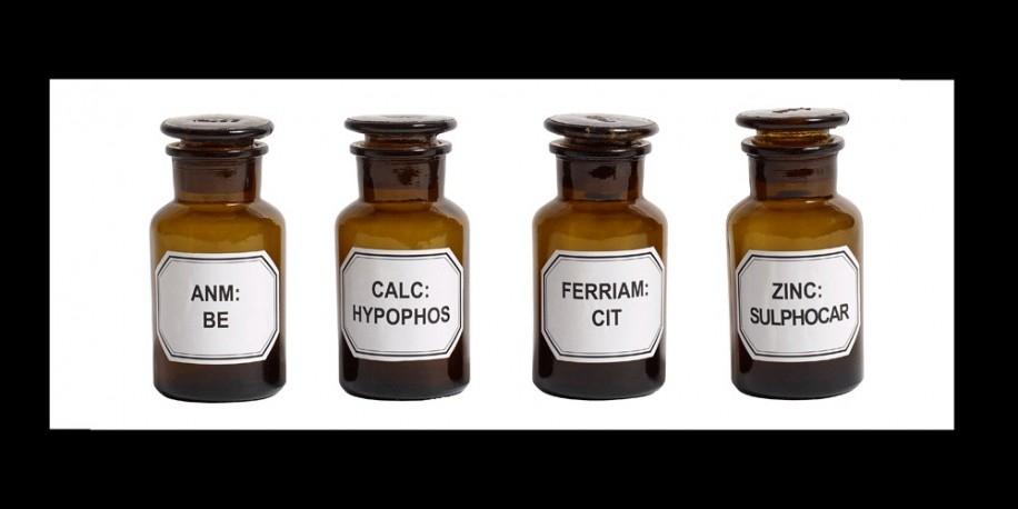 Flacons à Pharmacie - Le set de 4