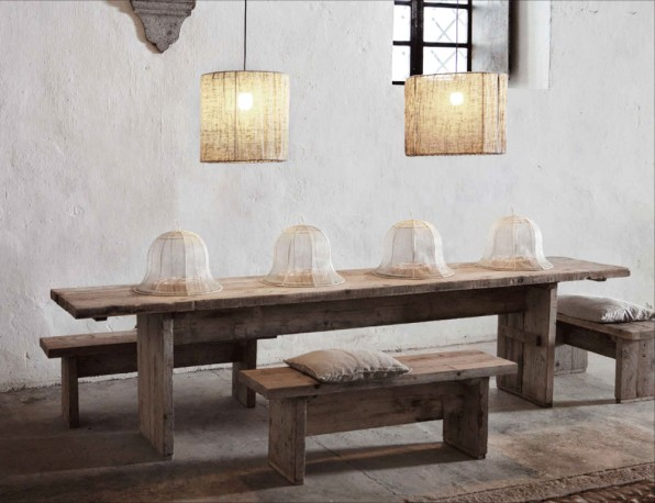 Dining table in Raw Wood Palazzo