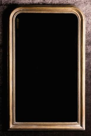 Grand miroir doré style NIII