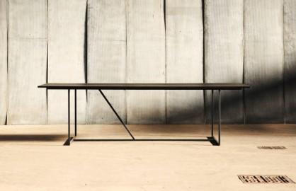 Table de repas W - Chêne & Métal - 200 cm