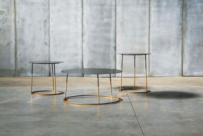 Coffee Tables Atole Gold - Set of 3