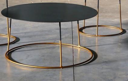 Tables Basses Atole Gold - Set de 3
