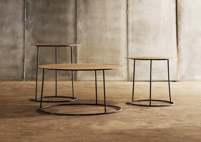 Metal Coffee Table Atole Gold - ∅ 70 cm