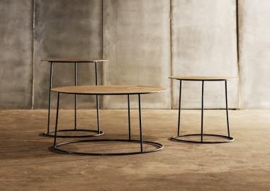 Table Basse Atole Chêne ∅45xH50cm