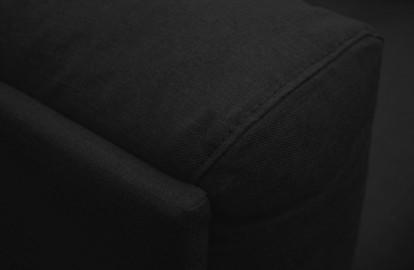 Fauteuil Lounge Roger - Lin Noir - Sur Commande