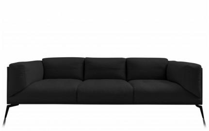 Canapé Lounge Roger - Lin Noir - Sur Commande