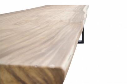 La dolmen, Table en bois brut massif et métal 250cm