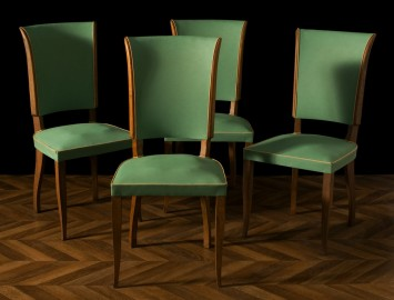 Four chairs in moleskine 1950