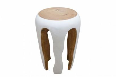 Table d'appoint ou tabouret en bois de Suar