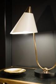 Lampe double bras en laiton