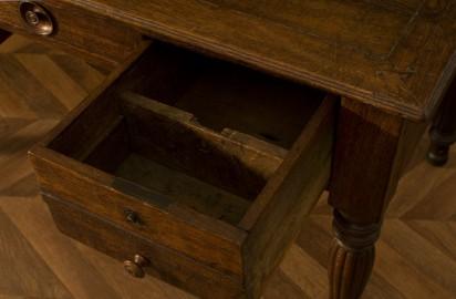 Oak desk late 19th century
