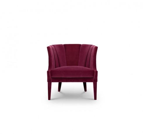 Lauren Lounge Chair, Purple Velvet