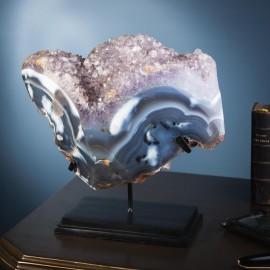 Lapis-lazuli (4 kg) on brass stand