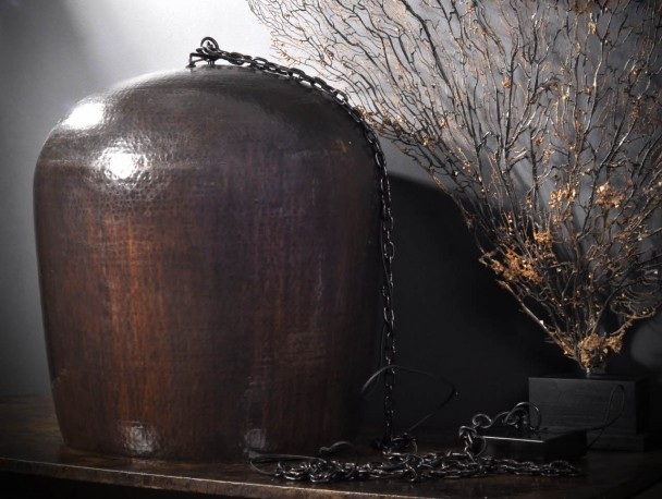 Hammered Copper Egg Shade XL