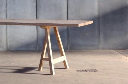 Table salle à manger en chêne massif  Pablo réalisée sur mesure