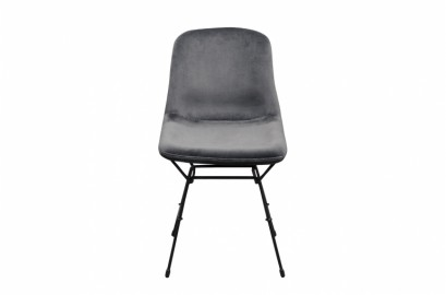 Chaise Eva Velours Gris Taupe