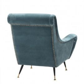 Fauteuil Velours Raffles Style 50s