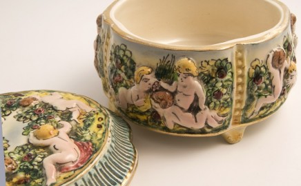Coupe en porcelaine Capodimonte