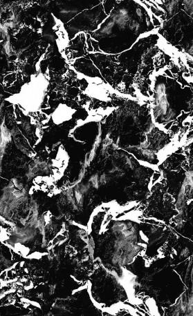 Papier Peint CARRARE BLACK, Rouleau 1000x50cm