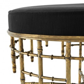 Velvet Stool Napoleon III Style ø 69cm