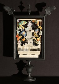 Table Lamp Butterflies, Italy, H61cm