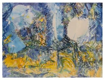 Aquarelle - Torpeur d'Eté - 135x101 cm