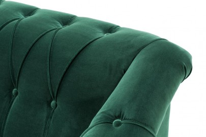 Fauteuil Mondrian, Velours Vert Laurier