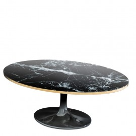 Contemporary Black Round Dining Table